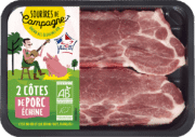 Côtes échines porc